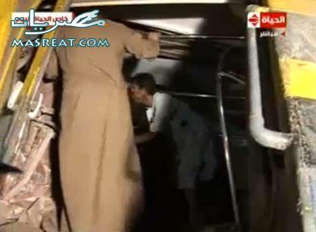 جهود الانقاذ في حادثة قطار العياط