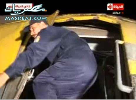 البحث عن المصابين في حادث قطار العياط