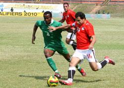 منتخب مصر يلعب مباراة ودية استعدادا لمباراة الجزائر في كأس العالم