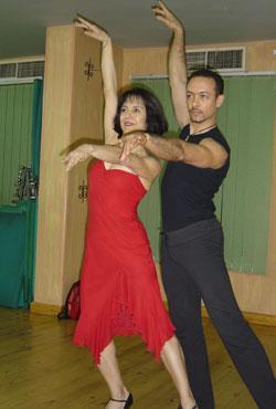سامية علوبة و رقص الايروبكس