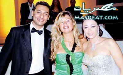 زواج داليا البحيري - داليا البحيري مع عريسها و رانيا فريد شوقي
