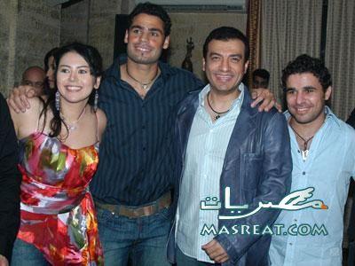 صور لقاء الخميسي وعبد المنصف مع ايهاب توفيق و خالد الغندور