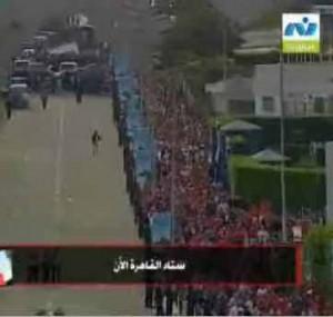 محيط ستاد القاهرة قبل بدء مباراة مصر والجزائر