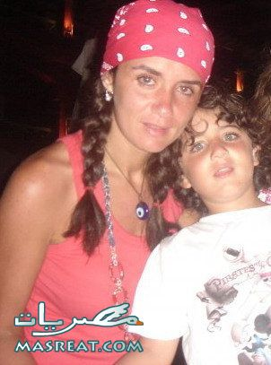صور غادة عادل مع ابنها