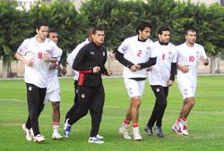 المنتخب المصري يستعد لـ مباراة مصر ونيجيريا انجولا 2010