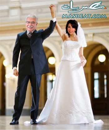رئيس الوزراء احمد نظيف و عروسته زينب زكي