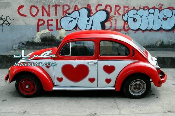 صور افكار عيد الحب 2015 تزيين السيارة للرجال