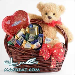 افكار عيد الحب - هدايا دباديب وقلوب