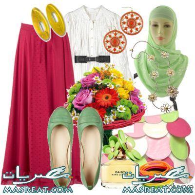 ملابس محجبات 2012 للبنات