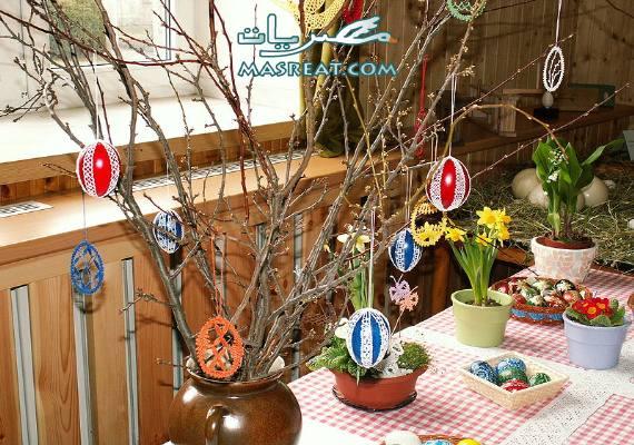تلوين بيض شم النسيم- شجرة