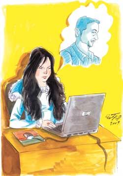 طلبت الطلاق بسبب علاقات زوجها المشينة على الانترنت