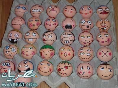 تلوين بيض شم النسيم