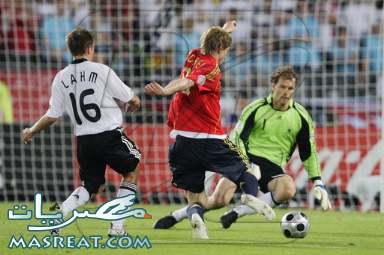 مشاهدة مباراة المانيا و اسبانيا اون لاين على الانترنت .. منافسة اوروبية خالصة