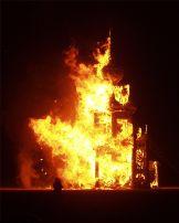 طالب بولاق الدكرور اشعل النار في والده وهرب