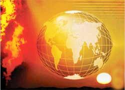 ارتفاع حرارة الارض  يهدد الحياة البشرية
