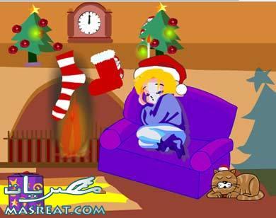 بطاقات الكريسماس متحركة كروت بابا نويل تهنئة راس السنة 2018