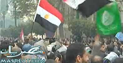 الاخوان والسلفيين ايد واحدة في مظاهرات يوم 25 يناير 2012