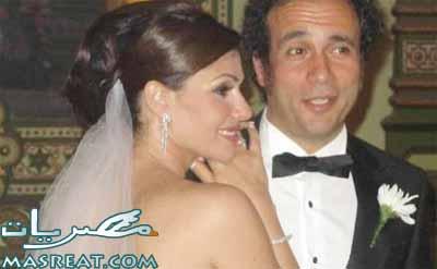 صور زواج عمرو حمزاوي وبسمة