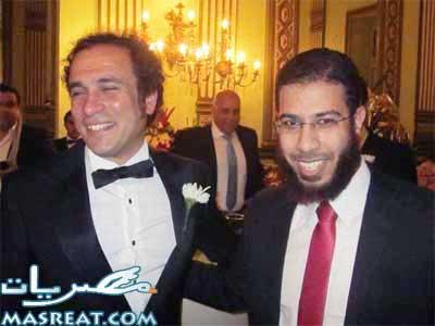 بالصور نادر بكار في فرح عمرو حمزاوي وبسمة للتهنئة بالزواج