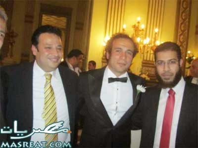 نادر بكار بصحبة عمرو حمزازي اثناء حفل الزواج