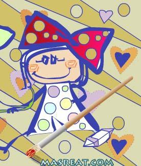 لعبة تلوين وصنع هدايا بطاقات عيد الام 2018 للاطفال