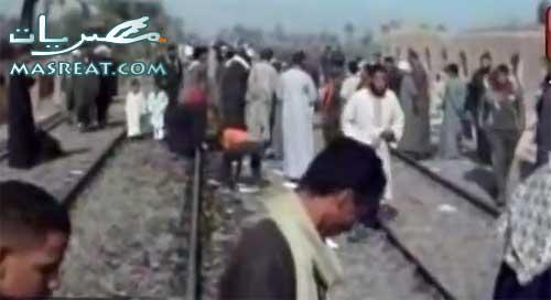 حادث قطار اسيوط
