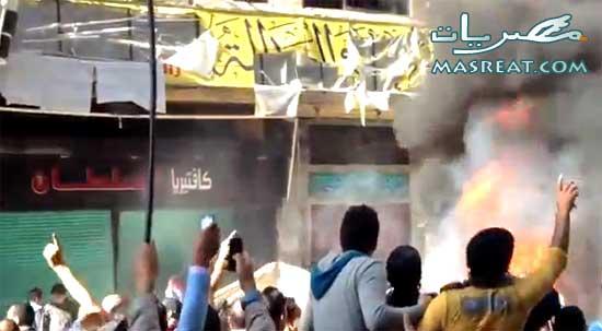 اخبار حرق مقرات الاخوان في الاسكندرية وبعض محافظات مصر اليوم