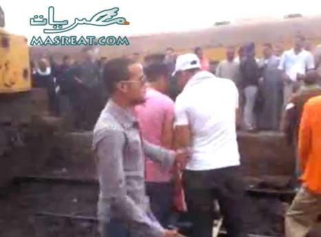 حادثة تصادم قطار الفيوم - الواسطى اليوم وعشرات القتلى والمصابين