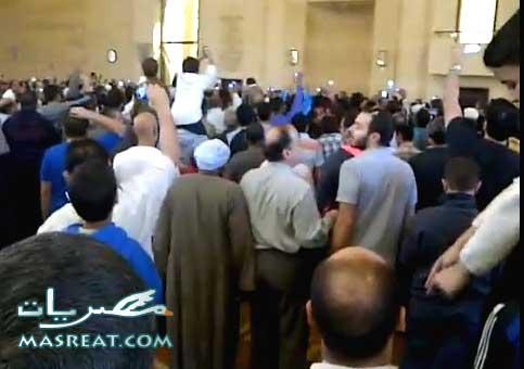 ميدان التحرير يهلل لخبر احداث هروب مرسي من مسجد الشربتلي الآن