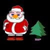 العاب بابا نويل يجمع الهدايا