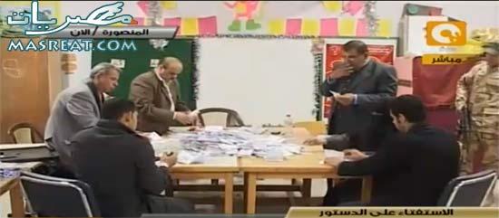 نتيجة الاستفتاء على الدستور المصري
