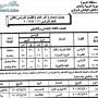 جدول امتحانات الصف الثالث الابتدائي 2013 محافظة البحيرة اخر العام