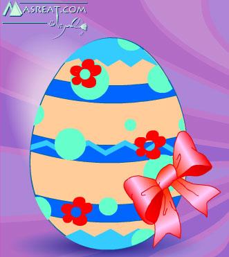 لعبة تلوين بيض شم النسيم، اجمل العاب العيد الرسم على البيض