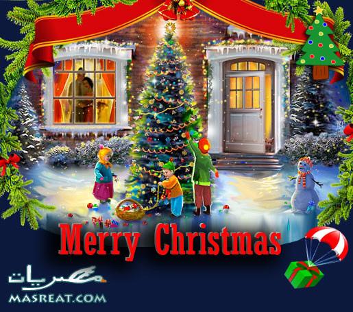 صور تزيين شجرة الكريسماس