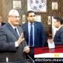يوتيوب الرئيس عدلي منصور يقف في طابور الاستفتاء على الدستور اليوم