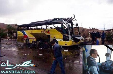 بالفيديو والصور اخر اخبار احداث تفجير اتوبيس طابا في سيناء الان