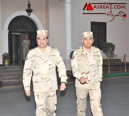 تعيين صدقى صبحى وزيراً جديداً للدفاع بعد استقالة السيسى اليوم