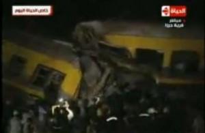 من موقع حادث قطار العياط