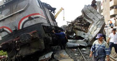 حادثة قطار نجع حمادي | اصطدام قطار بسيارة اجرة في فرشوط